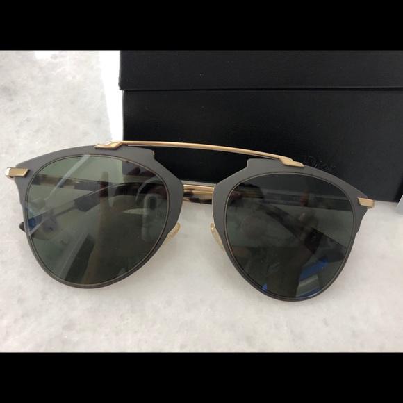 b32f321247cd Dior Accessories - Dior Reflected Havana Grey Sunglasses